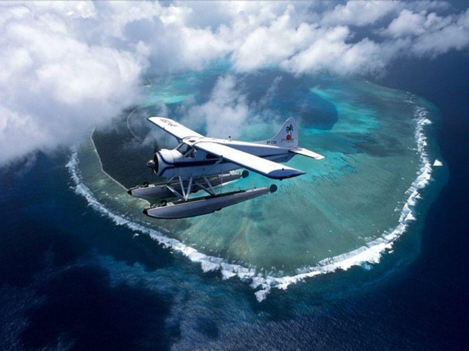 Letecký pohled na republiku Palau