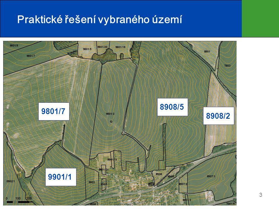 4 Praktické řešení vybraného území Půdní blok č. 8908/5 (pohled ze Z)