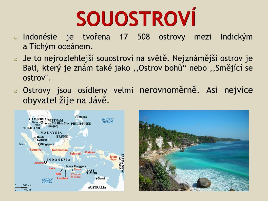 ZDROJE http://cs.wikipedia.org/wiki/Indon%C3%A9sie http://www.zemepis.com/Indonesie.php http://indonesie.worldisland.cz/ http://www.rozhlas.cz/leonardo/priroda/_zprava/789661 http://indonesie.navajo.cz/ http://www.matrixtravel.eu/index.php?ido=422&idmhttp://www.matrixtravel.eu/index.php?ido=422&idm= http://cs.wikipedia.org/wiki/Indon%C3%A9sie Učebnice Zeměpis světa 2