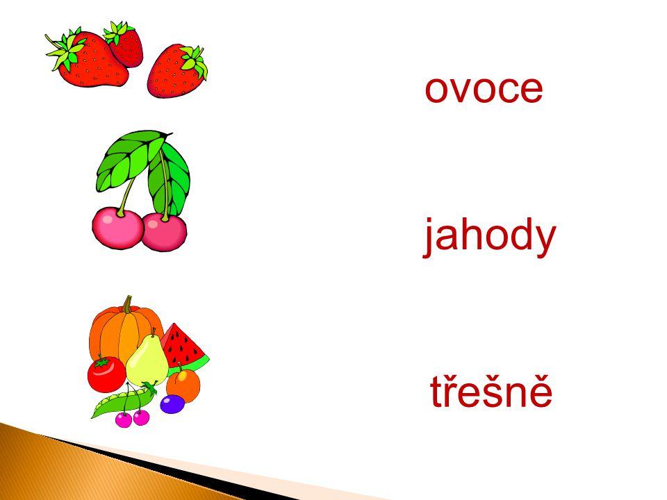 ovoce třešně jahody