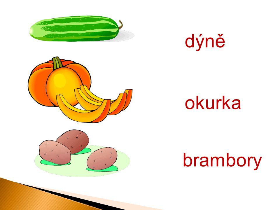 dýně brambory okurka