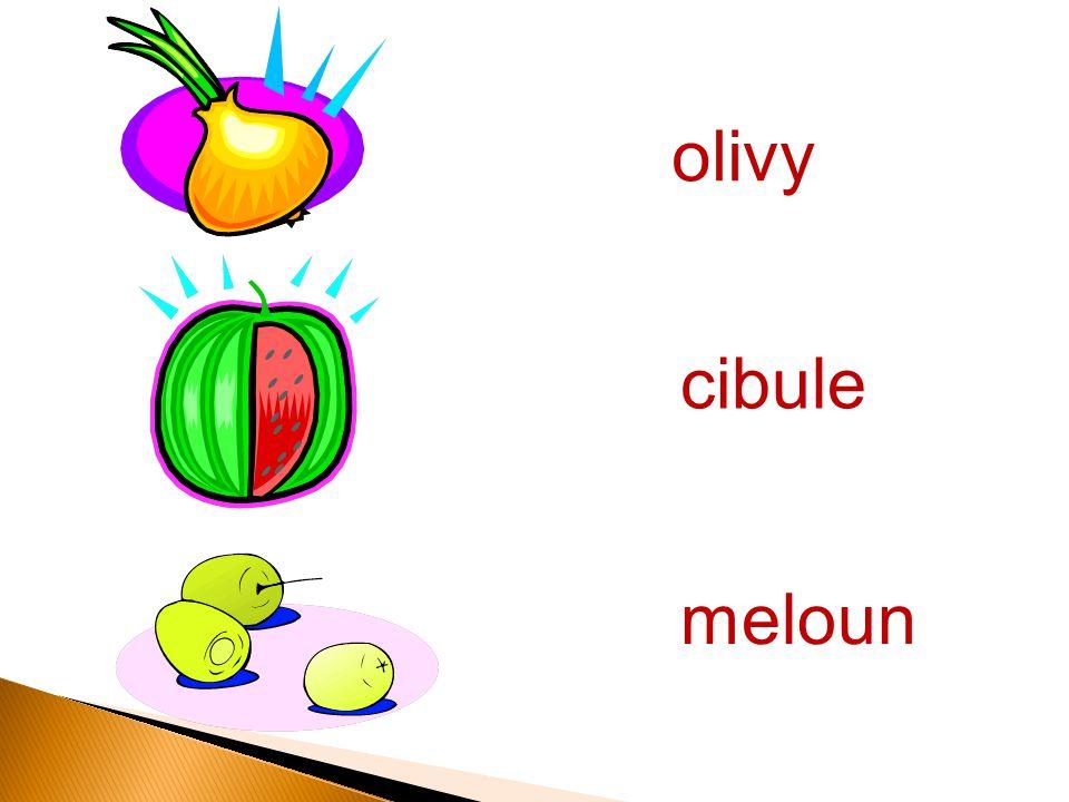 olivy meloun cibule