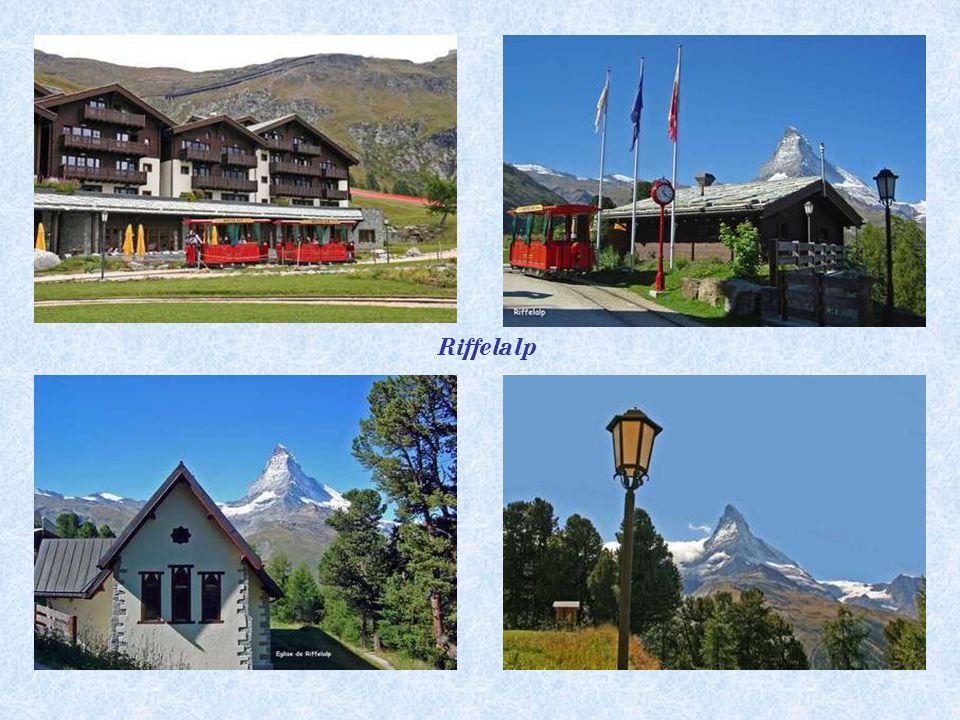 Nejvy šš í tramvaj v Evrop ě - Délka dráhy 675 m, uvedena do provozu v roce 2001 Altitude 2222 m. Riffelalp