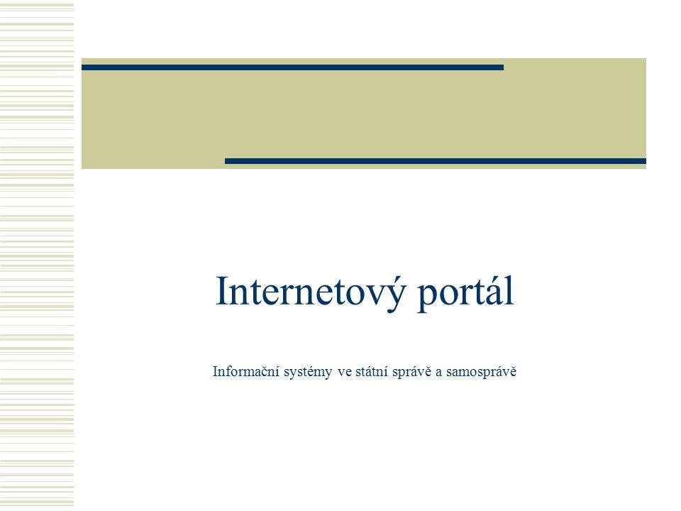 Internetový portál Informační systémy ve státní správě a samosprávě