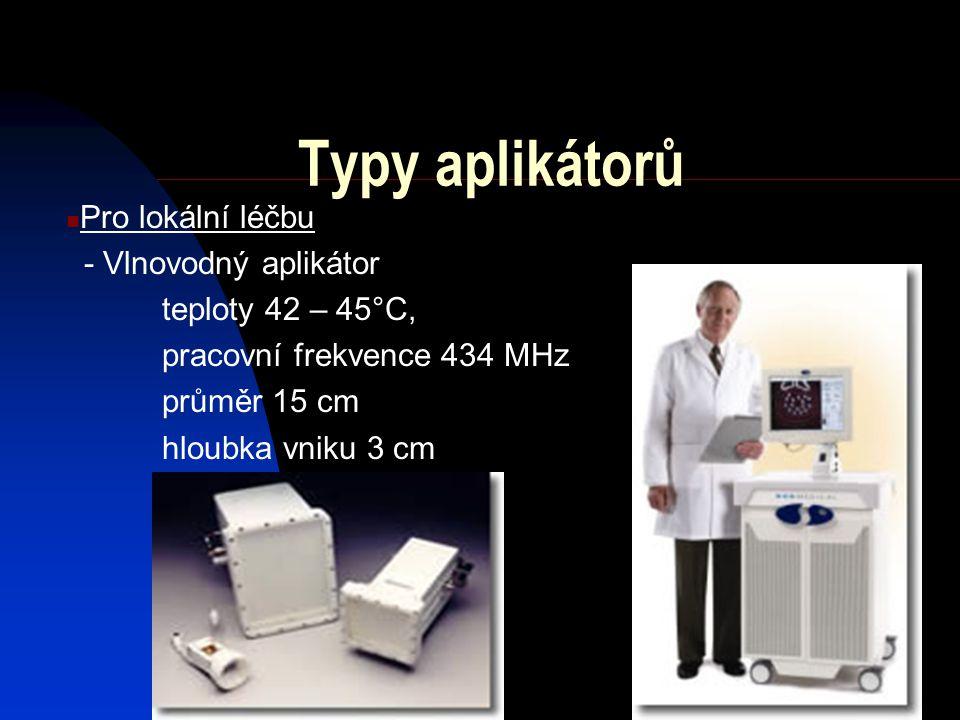 Vlnovodné aplikátory Výhody: - nejmenší ztráty přenášené energie - přenos největšího výkonu - široké přenášené pásmo - zcela potlačené vyzařování elma