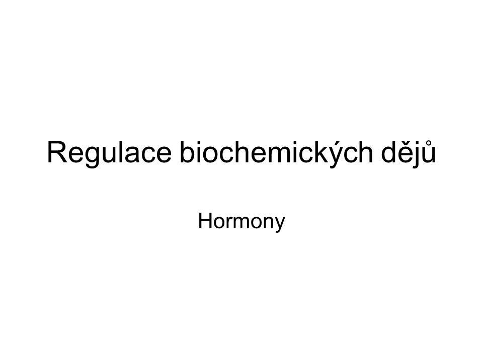 Regulace biochemických dějů Hormony