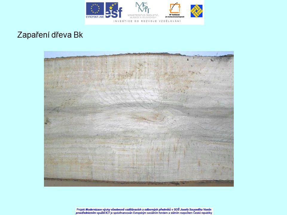 Zapaření dřeva Bk