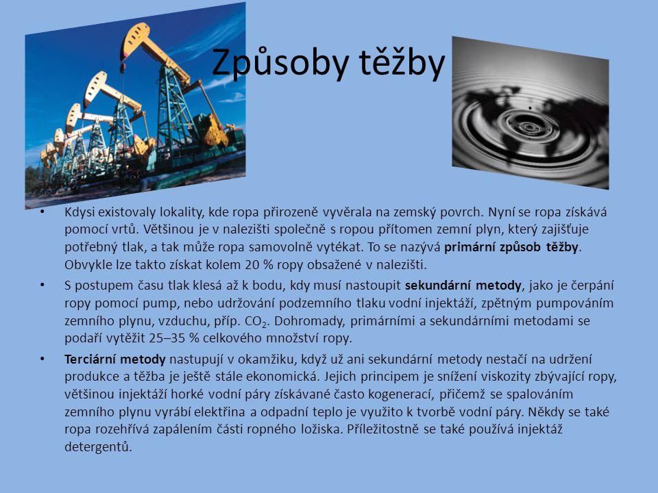 Využití Ropa i ropné výrobky jsou základním palivem pro dopravu a surovinou pro výrobu plastů.