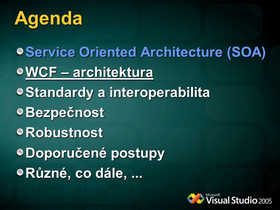 Distribuované aplikace nyní Různé technologie WSE, Remoting, RMI, EJB, COM+, JMS,...