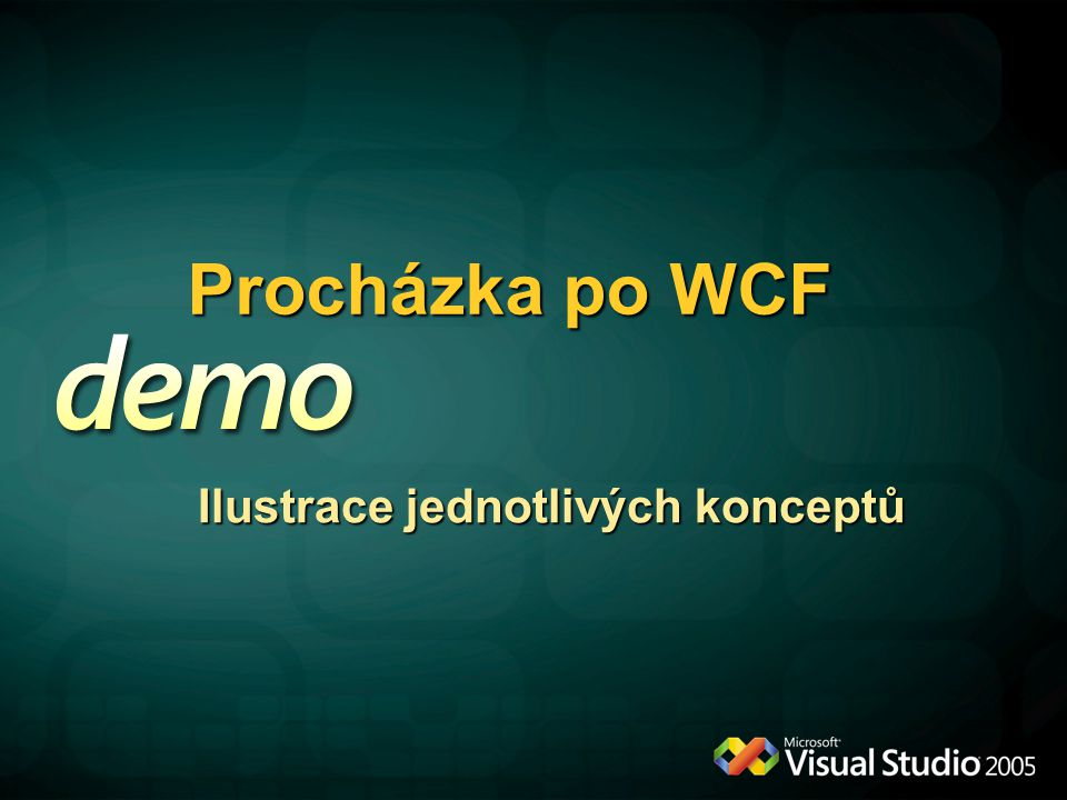 Procházka po WCF Ilustrace jednotlivých konceptů