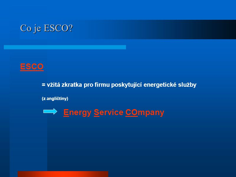 Co je EPC - Energy Performance Contracting.
