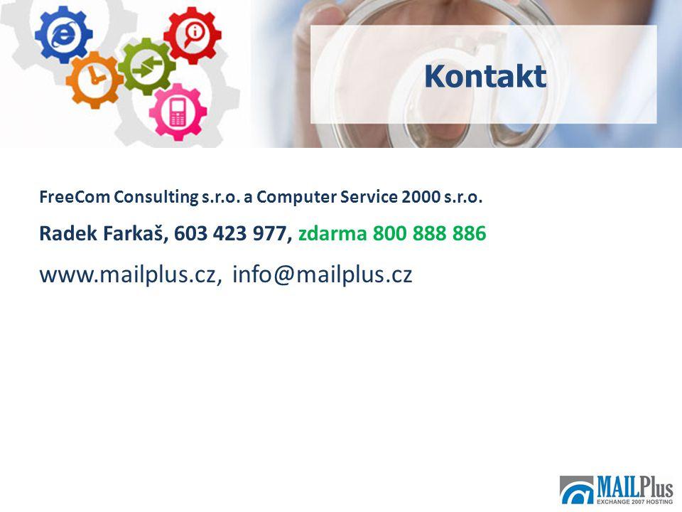 19 FreeCom Consulting s.r.o. a Computer Service 2000 s.r.o.