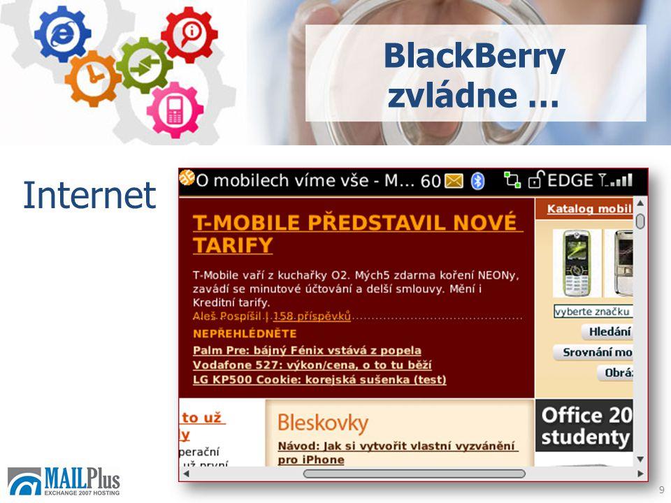 9 Internet BlackBerry zvládne …