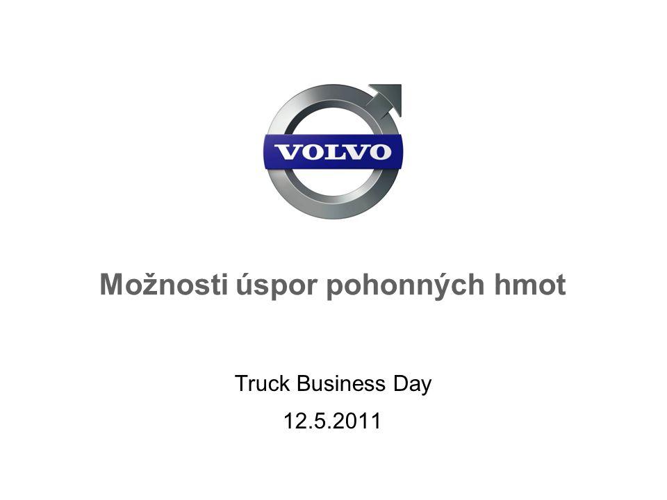 Volvo Trucks Preventivní údržba 12 Department, Name, Security Class Date <1% Mazací soustava VDS 3,4 kvalita oleje <3% Palivový systém Vstřikovače Ucpaný palivový filtr <3% Chladící systém Zanešený Intercooler <3% Nastavení náprav Zvýšení valivý odpor <4% Vzduchový systém Úniky ze vzduchové soustavy Zanešený zduchový filtr
