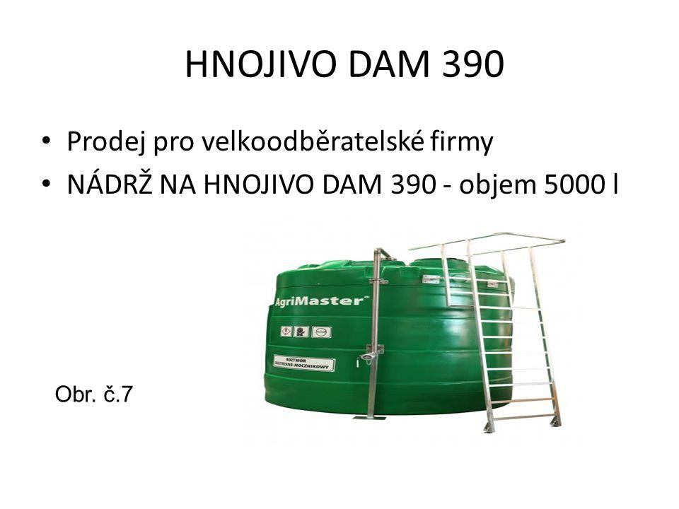 HNOJIVO DAM 390 Prodej pro velkoodběratelské firmy NÁDRŽ NA HNOJIVO DAM 390 - objem 5000 l Obr. č.7