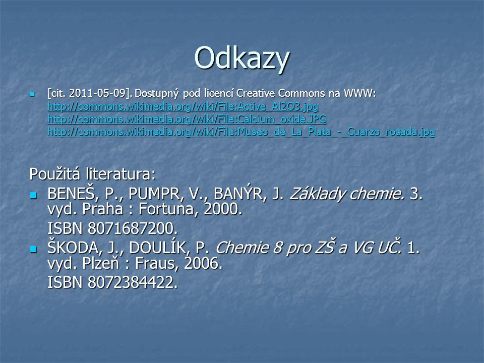 Odkazy [cit. 2011-05-09]. Dostupný pod licencí Creative Commons na WWW: [cit.