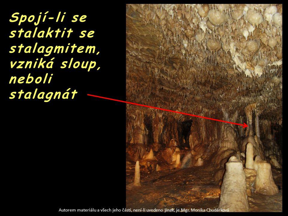 Strop jeskyně se stalaktity Autorem materiálu a všech jeho částí, není-li uvedeno jinak, je Mgr.