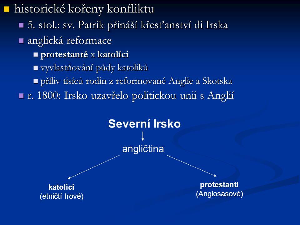 historické kořeny konfliktu historické kořeny konfliktu 5.