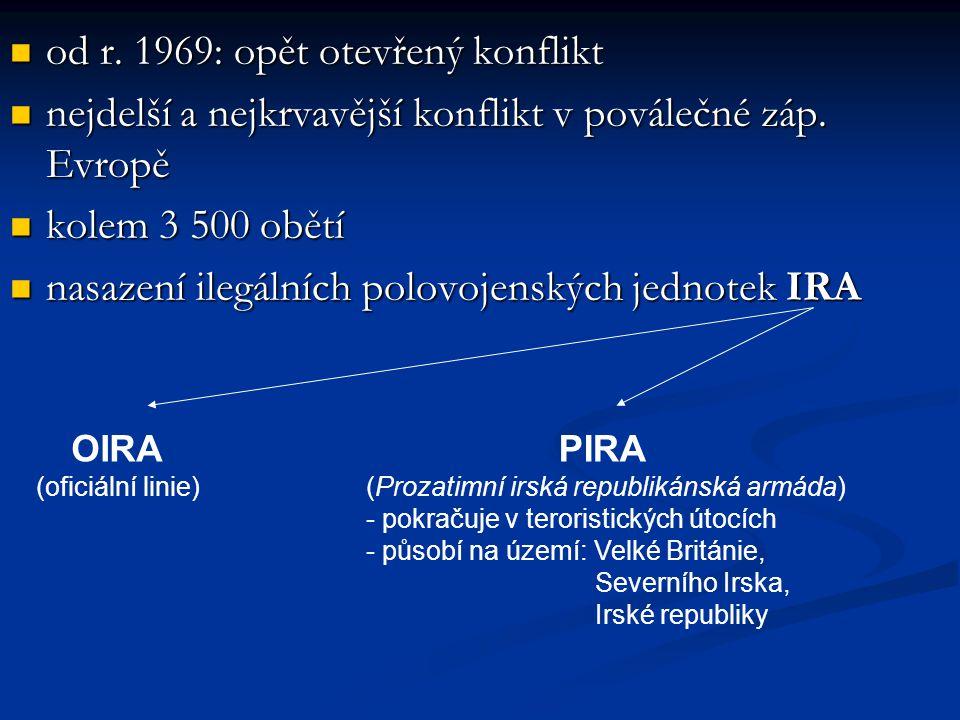 od r.1969: opět otevřený konflikt od r.