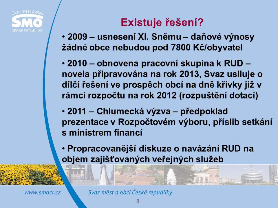 8 Existuje řešení. 2009 – usnesení XI.