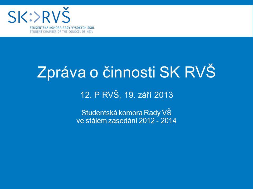 Zpráva o činnosti SK RVŠ 12. P RVŠ, 19.