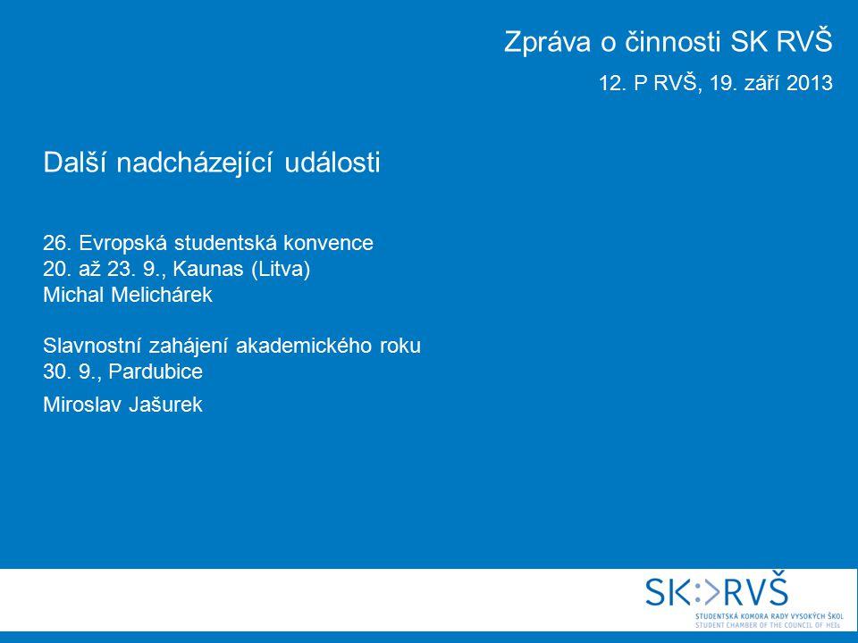 Další nadcházející události 26. Evropská studentská konvence 20.