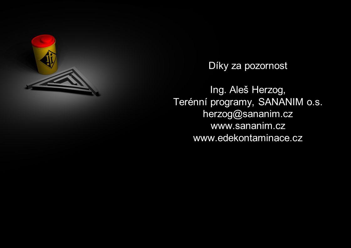 Díky za pozornost Ing. Aleš Herzog, Terénní programy, SANANIM o.s. herzog@sananim.cz www.sananim.cz www.edekontaminace.cz