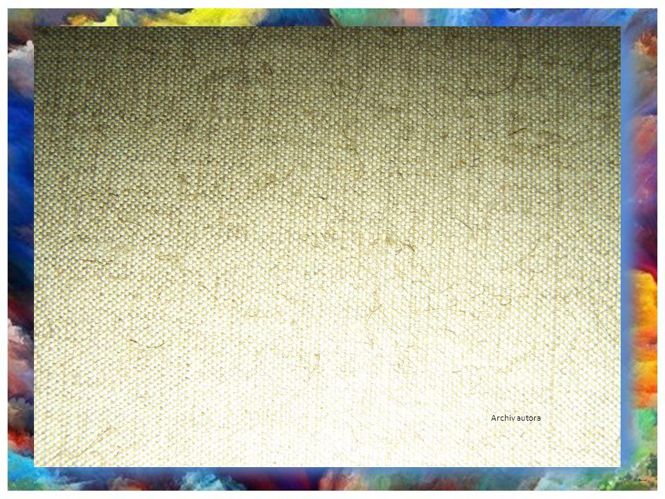 ©c.zuk Malířská plátna Prodávají se jako metráž, plátno většinou lněné, bavlněné, režné… Hustota propustnosti nití udává cenu plátna. Je v rolích šíře