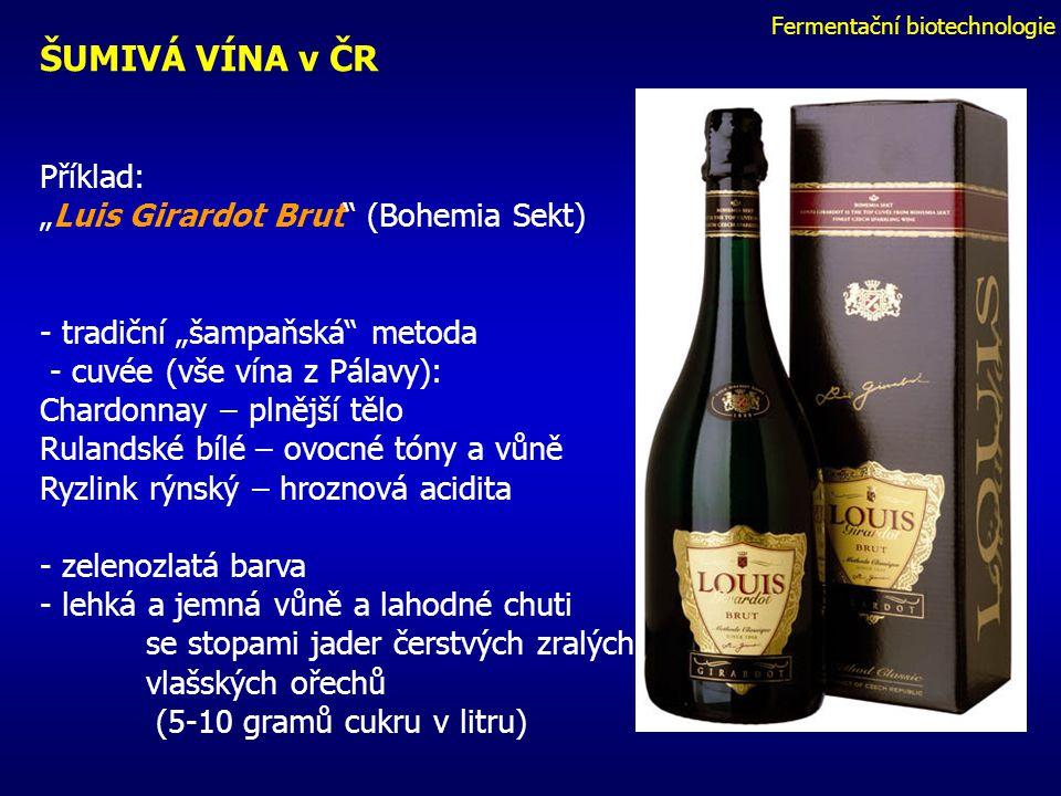 Fermentační biotechnologie OZNAČENÍ ŠUMIVÝCH VÍN – pouze pro výrobky, kterým po vytvoření šumivého vína nebyl dodán žádný cukr: a)