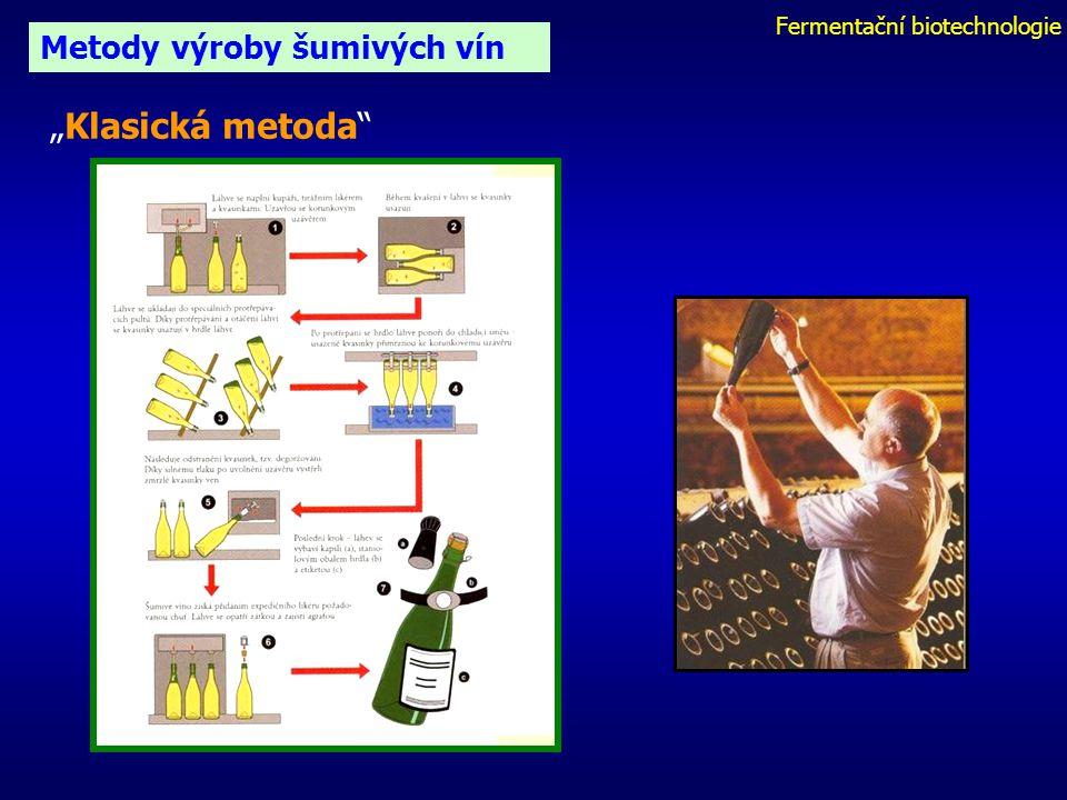 """Fermentační biotechnologie Metody výroby šumivých vín """"Klasická metoda"""