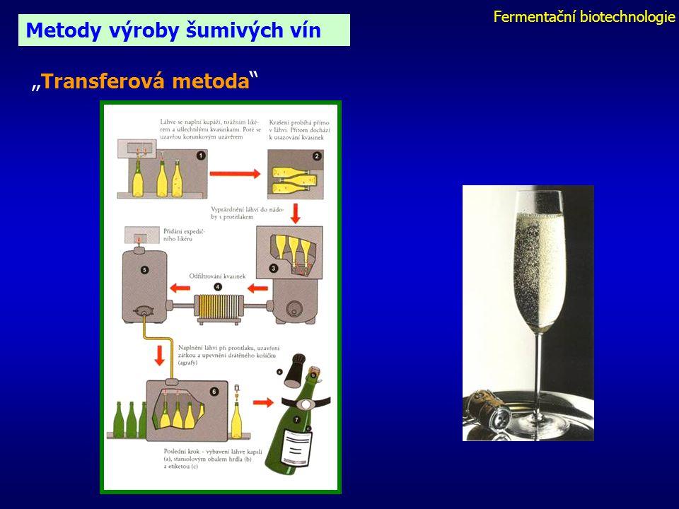 """Fermentační biotechnologie Metody výroby šumivých vín """" Transferová metoda"""