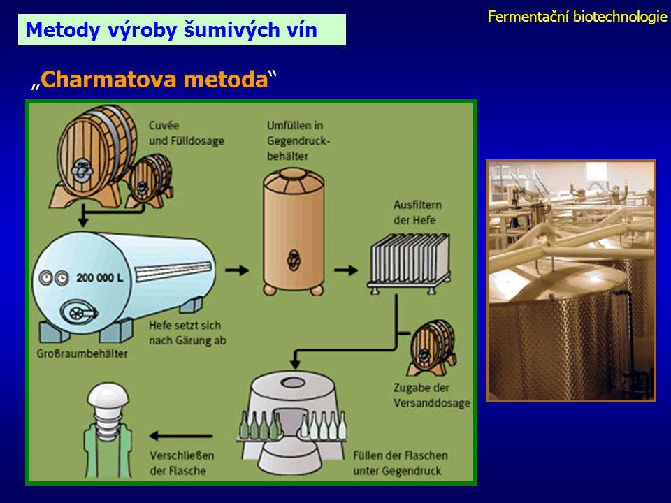 """Fermentační biotechnologie Metody výroby šumivých vín """"Charmatova metoda"""