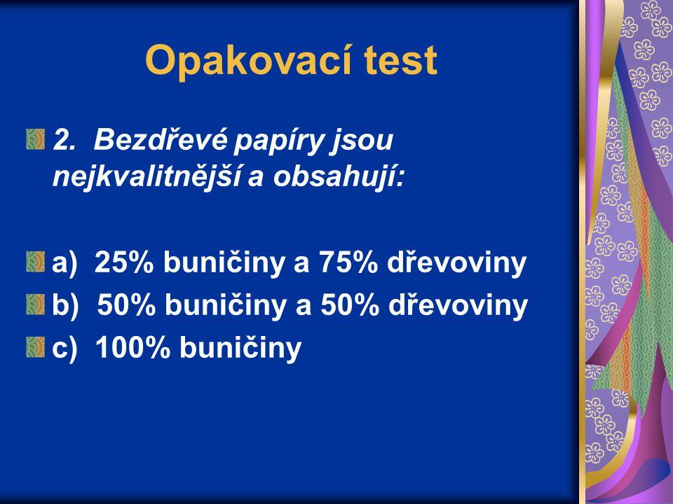 Opakovací test 3.