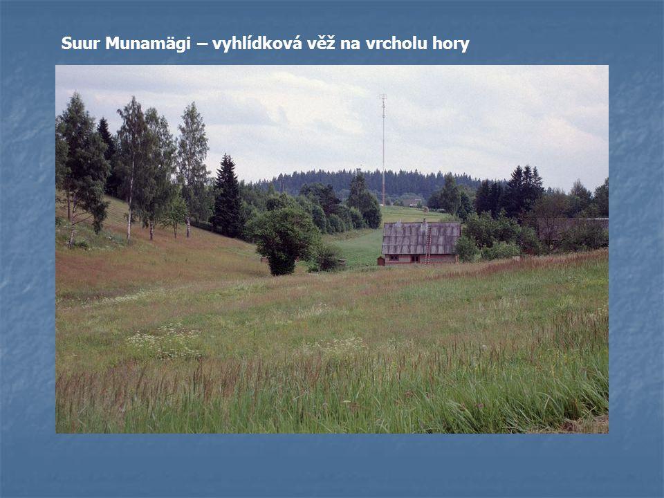 Vzdálené shluky dřevěných domků. Osamocené farmářské osady.