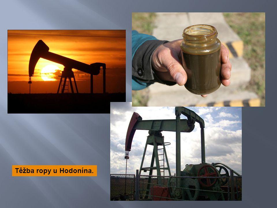 Těžba ropy u Hodonína.