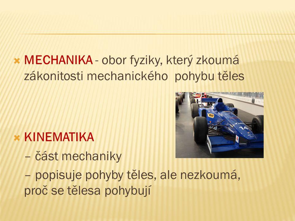 Příklad 5: Urči druhy pohybu podle trajektorie: a) Putování hlemýždě b) Dopravní letadlo vysoko nad pohořím c) Vlak mezi Prahou a Vsetínem d) Pád švestky e) Dítě na řetízkovém kolotoči f) Lyžař při slalomu g) Náklad ve výtahu