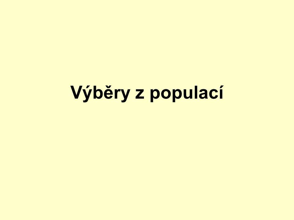 Výběry z populací