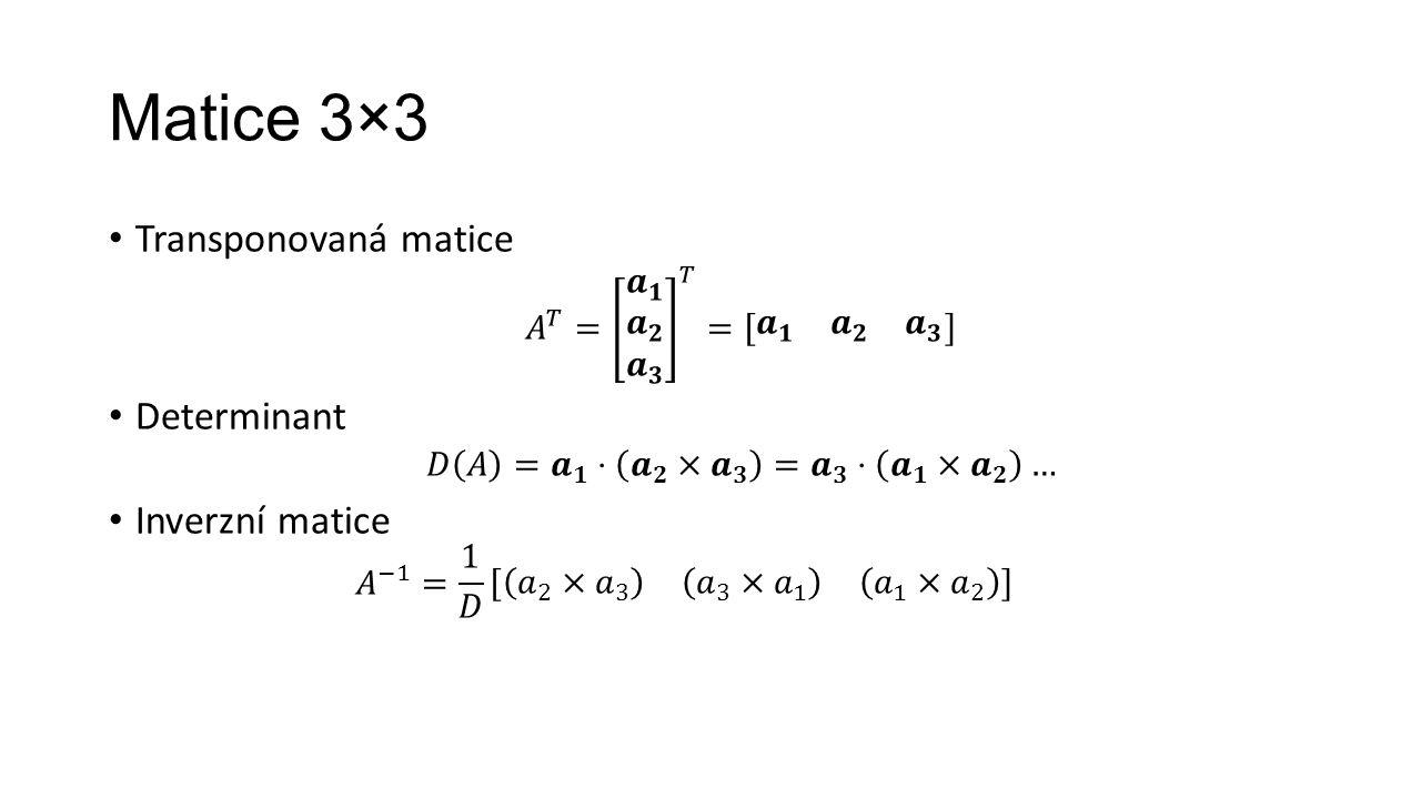 Matice 3×3