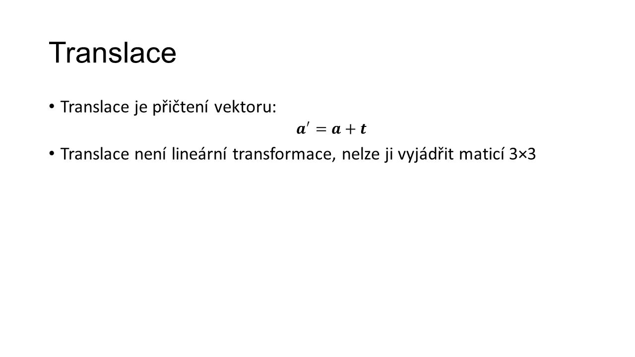 Translace