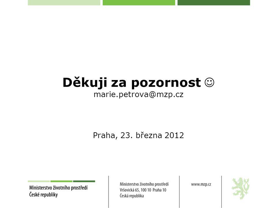 Děkuji za pozornost marie.petrova@mzp.cz Praha, 23. března 2012