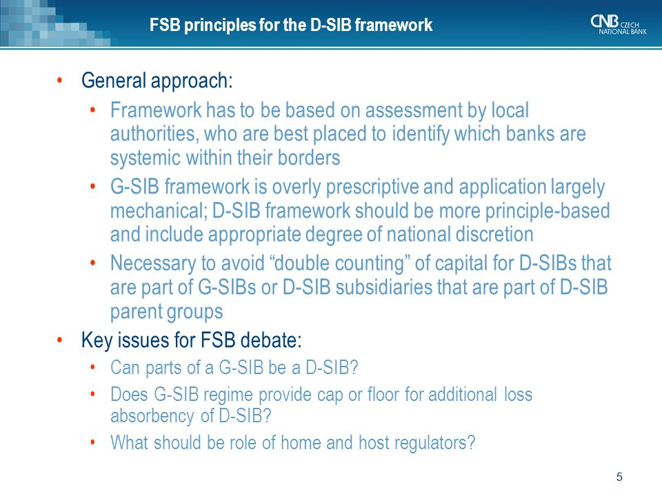 6 6 II. D-SIB proposal from the CRD IV trialogue