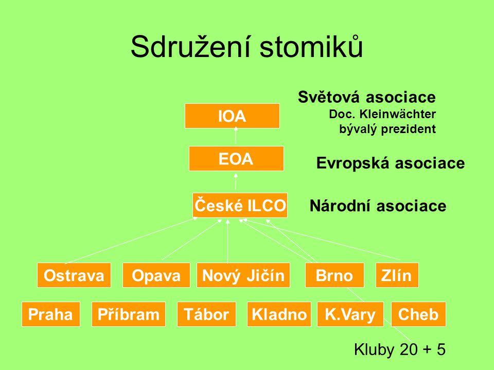 Sdružení stomiků OstravaOpavaZlínNový Jičín EOA IOA České ILCO Světová asociace Doc.
