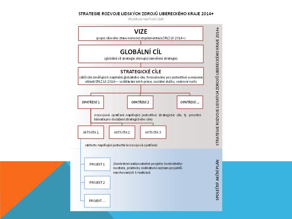 SPOLEČNÝ AKČNÍ PLÁN (SAP) -jednotný akční plán/sdružený akční plán -tento termín zavádí Evropská komise v novém programovacím období 2014- 2020 -konsenzus relevantních aktérů v Libereckém kraji stimulace tvorby projektů v plánovacím období EU 2014-2020 v rámci všech skupin potenciálních žadatelů -vznikne skupina vzájemně provázaných a spolu souvisejících projektů, které směřují k naplnění předem stanovených výsledků rozvoj lidských zdrojů v Libereckém kraji