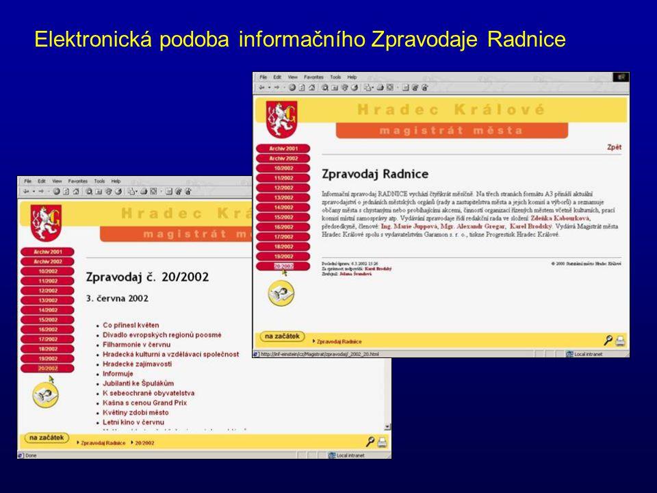 Elektronická podoba informačního Zpravodaje Radnice