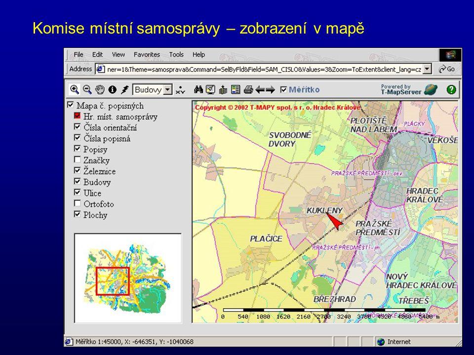 Komise místní samosprávy – zobrazení v mapě