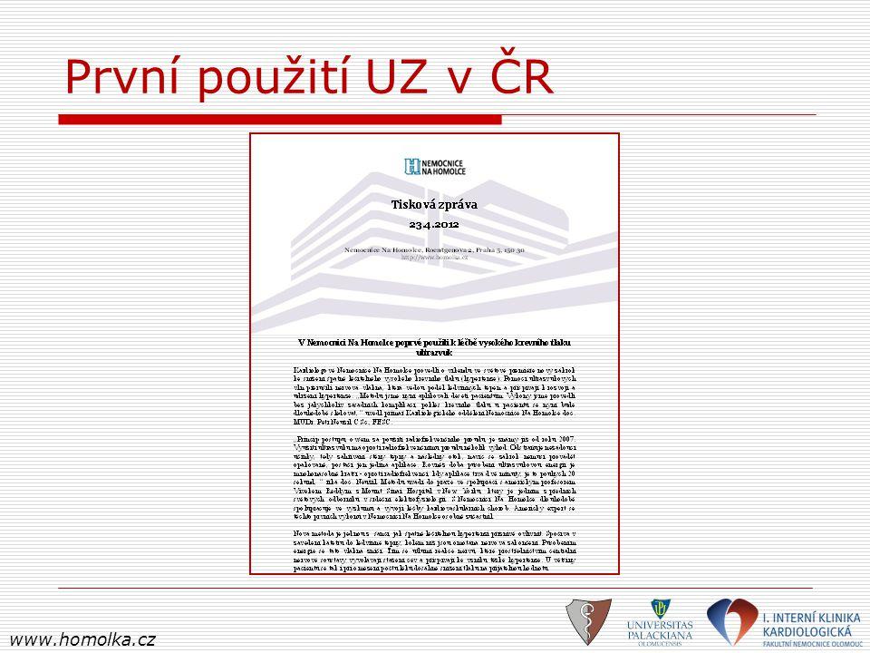 První použití UZ v ČR www.homolka.cz