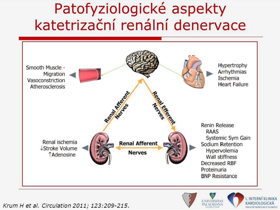 Patofyziologické aspekty katetrizační renální denervace Krum H et al. Circulation 2011; 123:209-215.