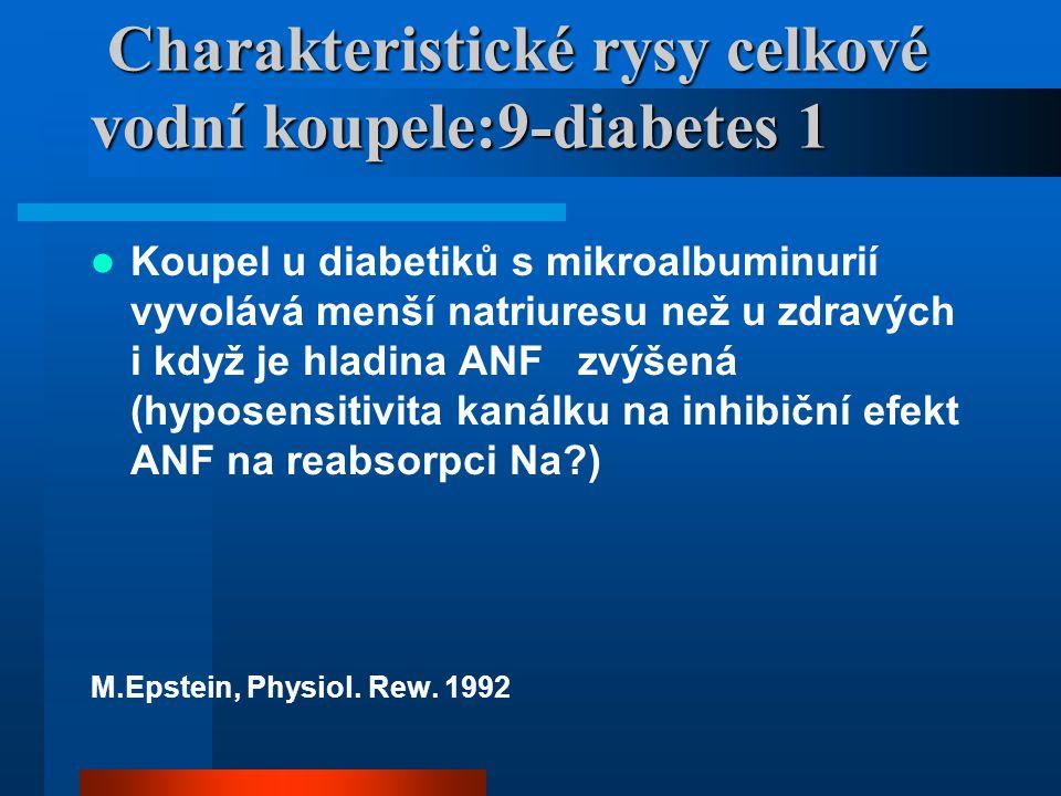 Charakteristické rysy celkové vodní koupele:9-diabetes 1 Charakteristické rysy celkové vodní koupele:9-diabetes 1 Koupel u diabetiků s mikroalbuminuri