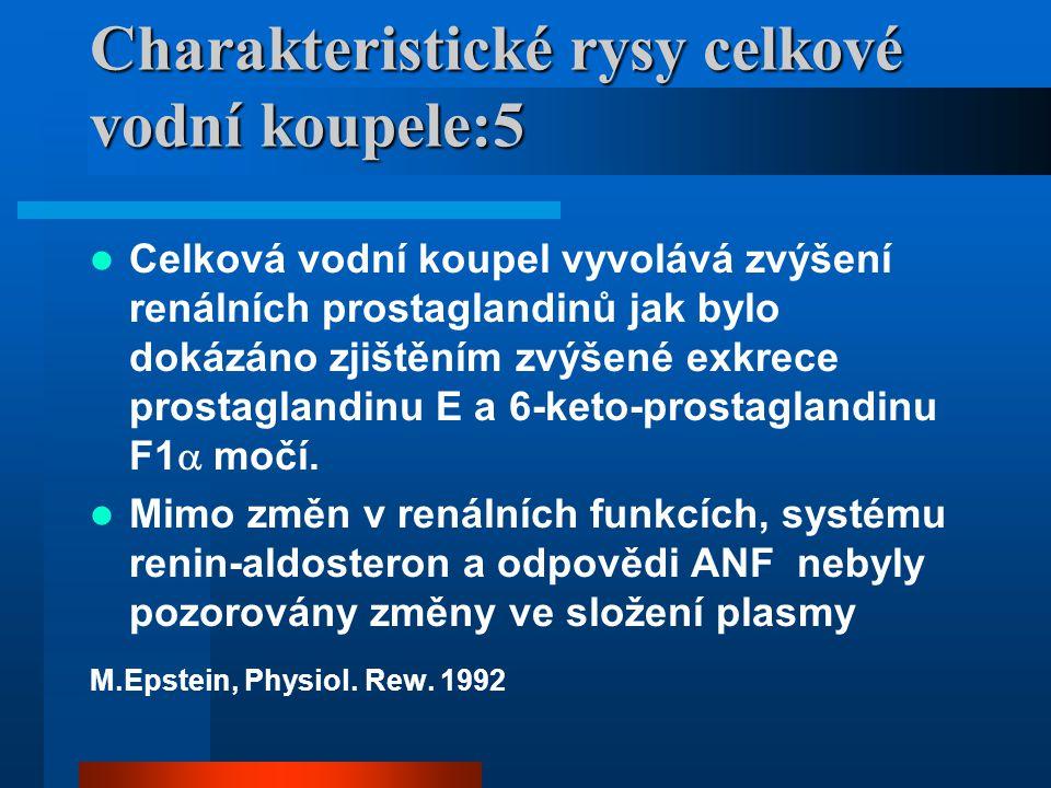 Známé účinky celkové vodní koupele - mechanické: Snížení váhy, relaxace – snížení hypertonu bolestivých partií, Zvýšení TF, prohloubení dechu, zvýšení tepového objemu Zmenšení objemu hrudníku Zvýšení nitrohrudního tlaku Ipser,Přerovský, 1972