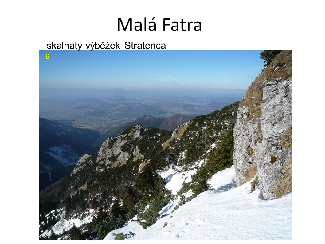 Malá Fatra 6 skalnatý výběžek Stratenca